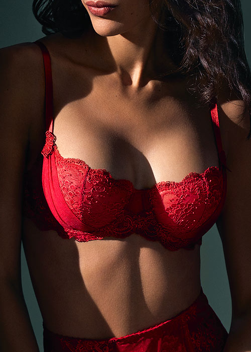 Aubade A L Amour Darling Rouge Half Cup Bra