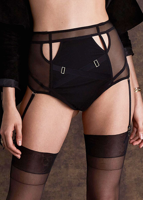 ea3bf233af4 Bluebella Scala High Waisted Suspender Thong Has Free Shipping At UK  Lingerie