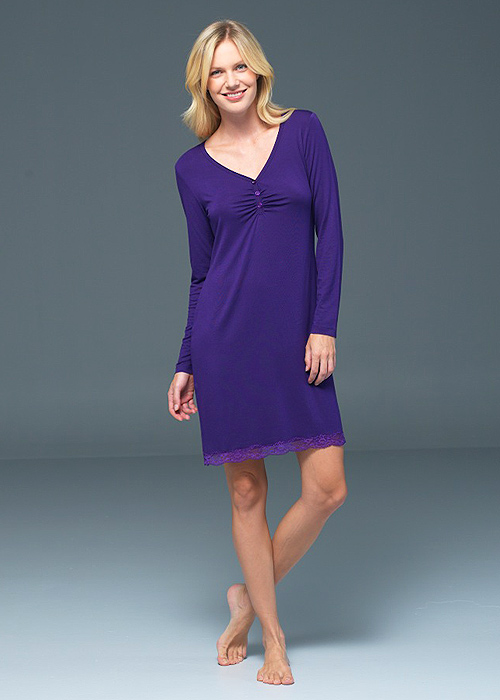 Blackspade Noir Amelia Long Sleeve Nightdress