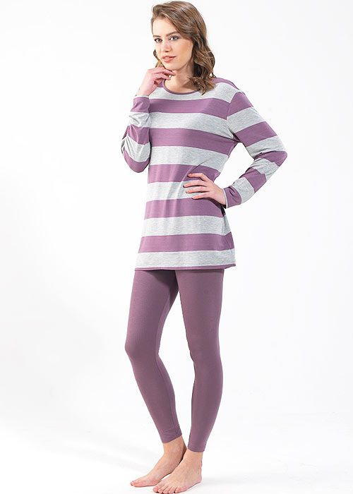 Blackspade Stripe Long Pyjama Set