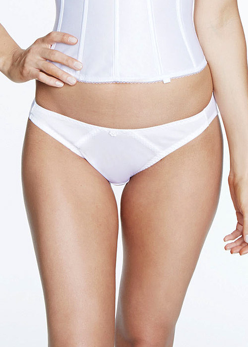 Dominique Plain Satin Thong