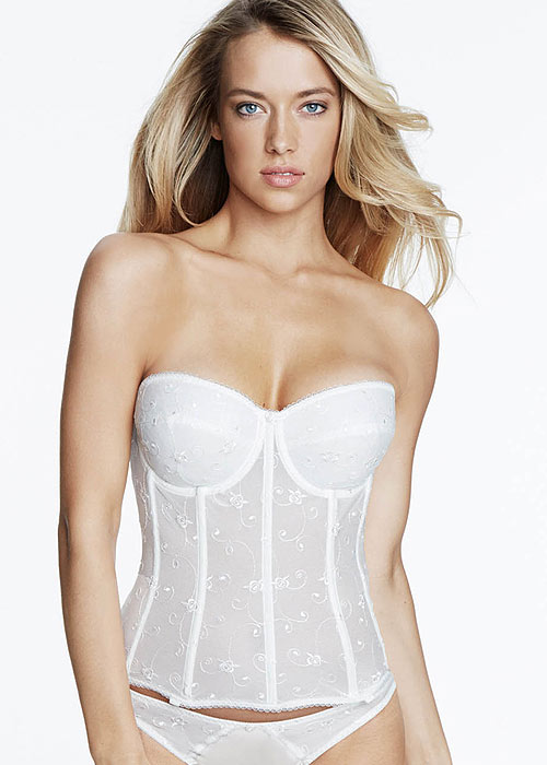 Dominique Rosemarie Embroidered Basque With Straps