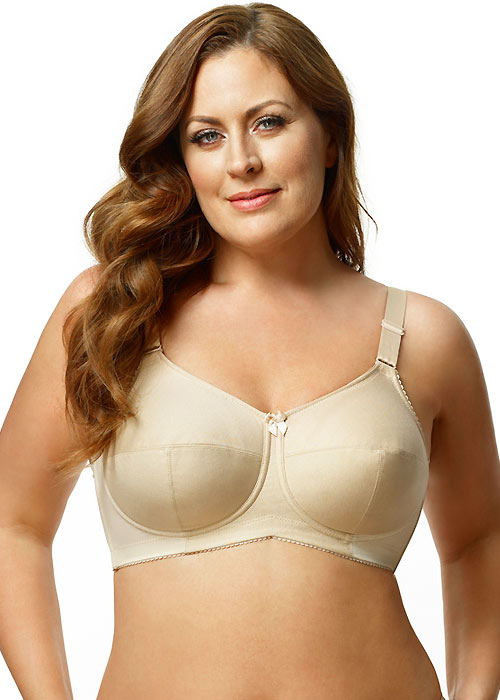 Elila Cotton And Silver Soft Cup Bra