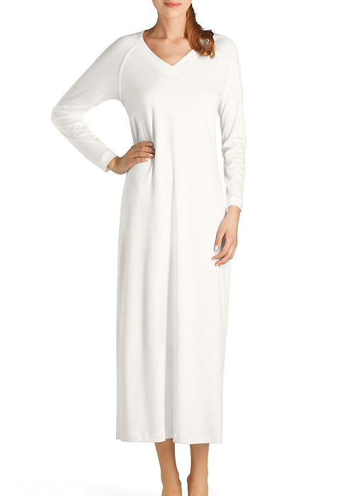 Hanro Pure Essence Long Sleeve Nightdress