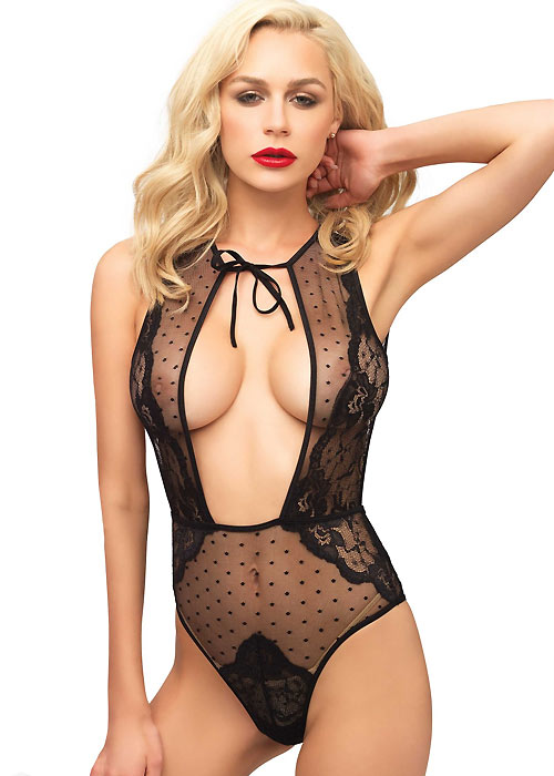 Leg Avenue Swiss Dot Teddy