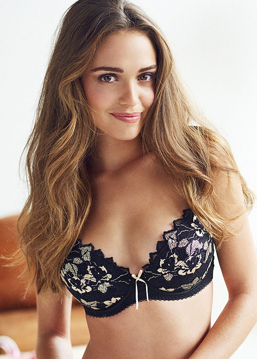edb340c964358 Lepel Fiore Padded Plunge Black Gold Bra Has Free Shipping At UK Lingerie
