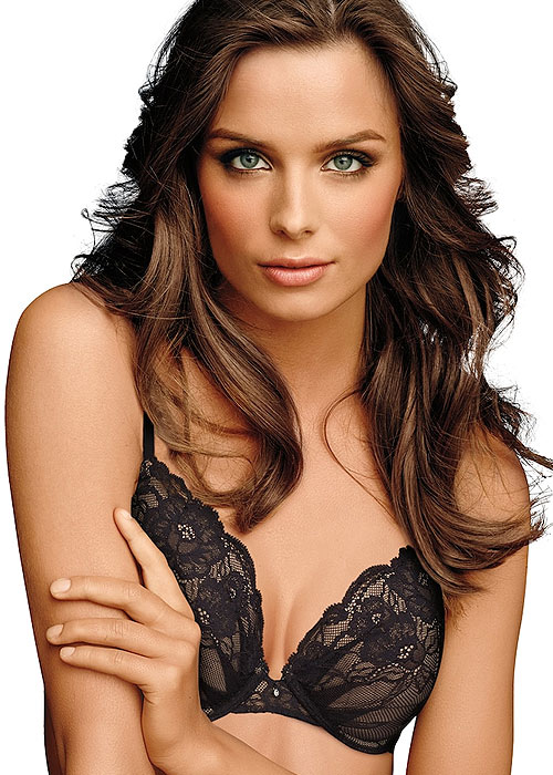 Maidenform Devotion Lacey Soft Plunge Push Up Bra