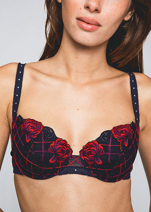 Maison Lejaby Check And Roses Padded Bra