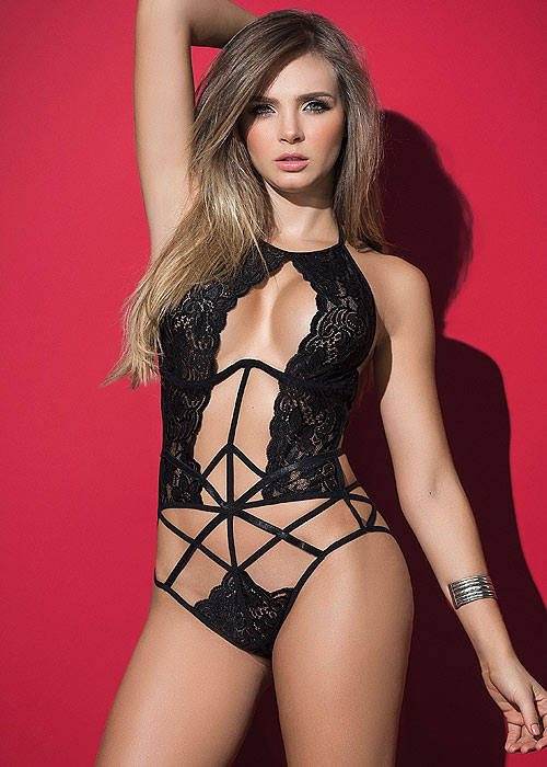 Mapale The Seductress Lace Strappy Bodysuit