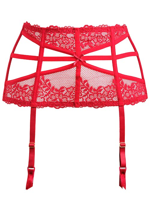 Pour Moi Contradiction Strapped Scarlett Suspender belt