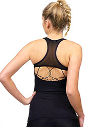 Acai Activewear Little Black Top With Built-In Bra Zoom 2