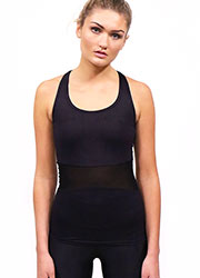 Acai Activewear Little Black Top With Built-In Bra