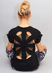 Acai Activewear Spider Back Tee Zoom 1
