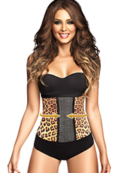 Ann Chery Animal Print Latex Waist Cincher Zoom 1