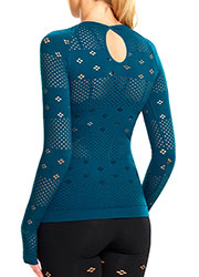 Ambra Active Plank Long Sleeve Crew Top Zoom 2