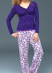 Blackspade Noir Amelia Long PJ Set Zoom 2