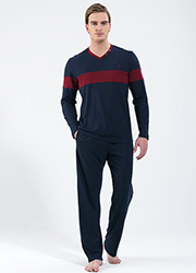 Blackspade Mens Long Stripe Pyjama Set Zoom 1