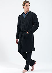 Blackspade Mens Thermal Robe