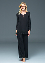 Blackspade Noir Ava Long Sleeve PJ Set