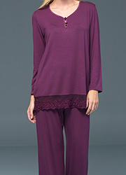 Blackspade Noir Ava Long Sleeve PJ Set Zoom 2