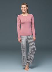 Blackspade Noir Olivia Long Sleeve PJ Set Zoom 1