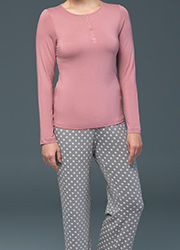 Blackspade Noir Olivia Long Sleeve PJ Set Zoom 2