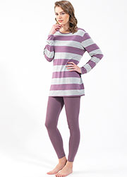 Blackspade Stripe Long Pyjama Set Zoom 1