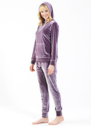 Blackspade Velvet Long Pyjama Set