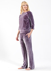 Blackspade Velvet Round Neck Pyjama Set Zoom 3