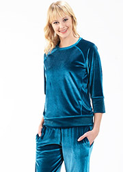 Blackspade Velvet Round Neck Pyjama Set Zoom 2