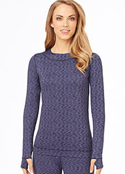 Cuddl Duds Flex Fit Long Sleeve Crew with Thumbholes Zoom 1