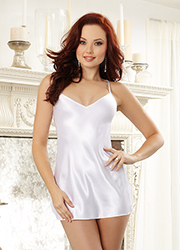 Dreamgirl Charmeuse Bridal Robe and Babydoll Set Zoom 3