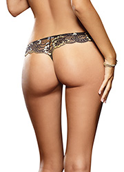 Dreamgirl Cross-Dye Lace Thong Zoom 2