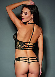 Dreamgirl Venice Zip Lace Bustier And Thong Set Zoom 4