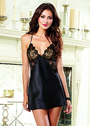 Dreamgirl Enticingly Sexy Satin Charmeuse Chemise