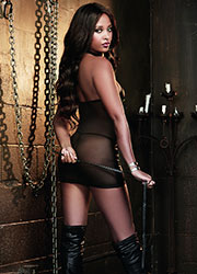 Dreamgirl Faux Leather Halter Chemise With Buckle Front Detail And Braided Leather Whip  Zoom 2
