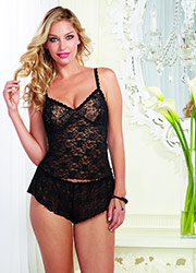 Dreamgirl Lace Cami And Shorts Set Zoom 3