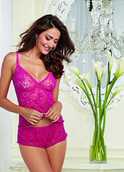 Dreamgirl Lace Cami And Shorts Set
