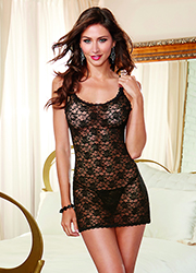 Dreamgirl Lace Chemise With Lace Thong Zoom 3