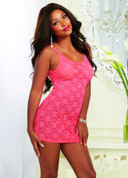 Dreamgirl Lace Chemise With Lace Thong Zoom 4