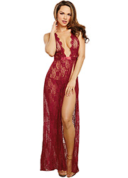 Dreamgirl Lace Gown With Thong