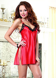Dreamgirl Satin Charmeuse Chemise Has Free Shipping At UK Lingerie d94169b91