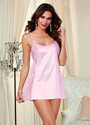 Dreamgirl Vintage Charmeuse Satin And Lace Chemise