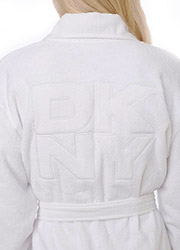 DKNY Signature Collection Short Terry Robe Zoom 2