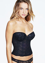 Dominique Annabel Lace Longline Basque With Low Back Zoom 4