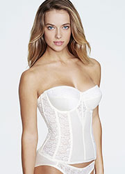Dominique Colette Satin And Lace Basque With Straps Zoom 4