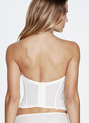 Dominique Hannah Deep Plunge Low Back Padded Push Up Lace Basque Zoom 3