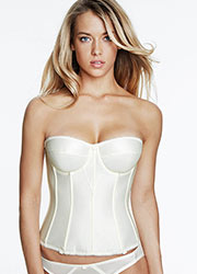 Dominique Juliette Bandeau Satin Basque With Straps Zoom 1