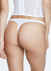 Dominique Plain Satin Thong Zoom 2