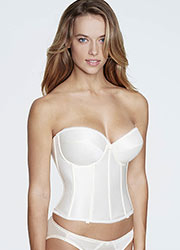 Dominique Rachelle Longline Satin Low Back Basque With Straps Zoom 4